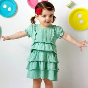 MATILDA JANE pistachio knit ruffle dress 18-24m